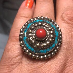 Jewelry - Bohemian vintage oversized ring